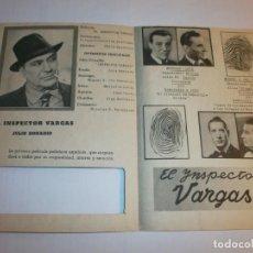 Cine: PROGRAMA DOBLE - FICHA DE IDENTIDAD. EL INSPECTOR VARGAS - JULIO DONADIO - 1940 - SIN PUBLICIDAD.. Lote 152473030