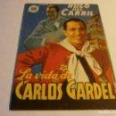 Cine: PROGRAMA DOBLE - LA VIDA DE CARLOS GARDEL - HUGO DEL CARRIL - SALÓN NACIONAL (GRANADA) - 1939.. Lote 152500582