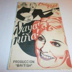Cine: PROGRAMA DE CINE EN CARTÓN - ¡ VAYA NIÑA ! - THELMA TODD - MONUMENTAL - 1940.. Lote 152515126