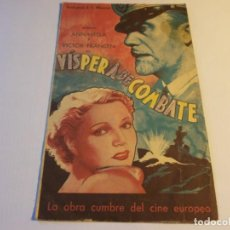 Cine: PROGRAMA DOBLE - VÍSPERA DE COMBATE - ANNABELLA, VICTOR FRANCEN - IDEAL (GRANADA) - 1939.. Lote 152518446