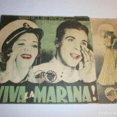 Cine: PROGRAMA DOBLE - ¡ VIVA LA ARMADA ! - DICK POWELL, RUBY KEELER - TEATRO CIRCO - 1938.. Lote 152519450