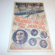 Kino - PROGRAMA DOBLE - VOLANDO HACIA RIO JANEIRO - DOLORES DEL RIO, FRED ASTAIRE - IDEAL (Granada) - 1936. - 152521726