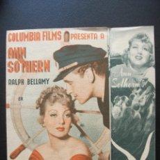 Cine: MOTÍN EN ALTA MAR, RALPH BELLAMY, ANN SOTHERN, CINEMA ALHAMBRA. Lote 152536322