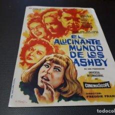 Cine: PROGRAMA DE MANO ORIG - EL ALUCINANTE MUNDO DE LOS ASHBY - CINE TEATRO PRINCIPAL. Lote 152541982