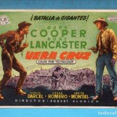 Cine: FOLLETO DE MANO DE DE VERACRUZ CON GARY COOPER PUBLICIDAD CINE COLISEO . Lote 152596226