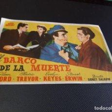 Cine: PROGRAMA DE MANO ORIG - EL BARCO DE LA MUERTE - CINE DE VICH. Lote 152611562