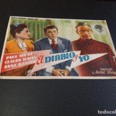 Cine: PROGRAMA DE MANO ORIG - EL DIABLO Y YO - CINE DE LÉRIDA . Lote 152612070