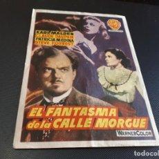 Cine: PROGRAMA DE MANO ORIG - EL FANTASMA DE LA CALLE MORGUE - CINE DE CABEZA DEL BUEY . Lote 152612158