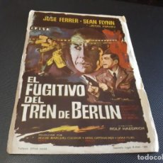 Cine: PROGRAMA DE MANO ORIG - EL FUGITIVO DE BERLÍN - CINE DE PUERTOLLANO . Lote 152614394