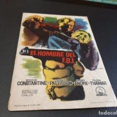 Cine: PROGRAMA DE MANO ORIG - EL HOMBRE DEL FBI - CINE DE VILLARREAL . Lote 152614558
