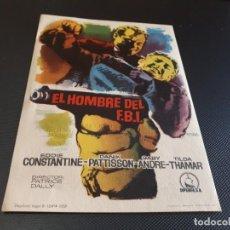 Cine: PROGRAMA DE MANO ORIG - EL HOMBRE DEL FBI - CINE DE VALENCIA. Lote 152614702