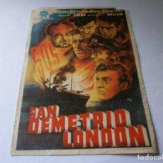 Cine: PROGRAMA DE CINE - SAN DEMETRIO LONDON - WALTER FITZGERALD, ROBERT BEATTY - CINE ALKAZAR - 1945.. Lote 152813374