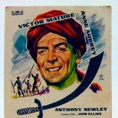 Cine: PROGRAMA MANO CINE BANDIDO DE ZHOBE TEATRO PRINCIPAL ALICANTE 1960 VÍCTOR MATURE. Lote 152814178