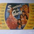 Cine: PROGRAMA DE CINE - SUEÑOS DE GLORIA - GEORGE RAFT, VERA ZORINA - MONUMENTAL CINEMA (MELILLA) - 1944.. Lote 152882986