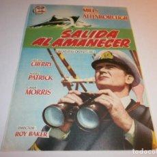 Cine: PROGRAMA DE CINE - SALIDA AL AMANECER - JOHN MILLS, RICHARD ATTENBOROUGH - TEATRO PRINCIPAL, 1955.. Lote 152885918