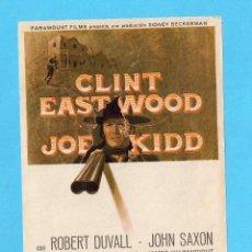 Cine: FOLLETO DE MANO JOE KIDD CON CLINT EASTWOOD SIN PUBLICIDAD . Lote 152909162