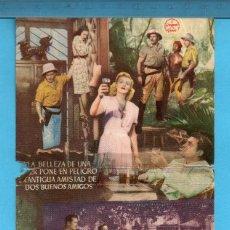 Cine: FOLLETO DE MANO LUNA DE BIRMANIA CON DORIS NOLAN SIN PUBLICIDAD . Lote 152909586