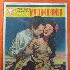 Cine: SAYONARA - MARLO BRANDO - FOLLETO DE MANO - CINEMA SALAMANCA DE SALAMANCA - CON INFORMACION. Lote 152913998