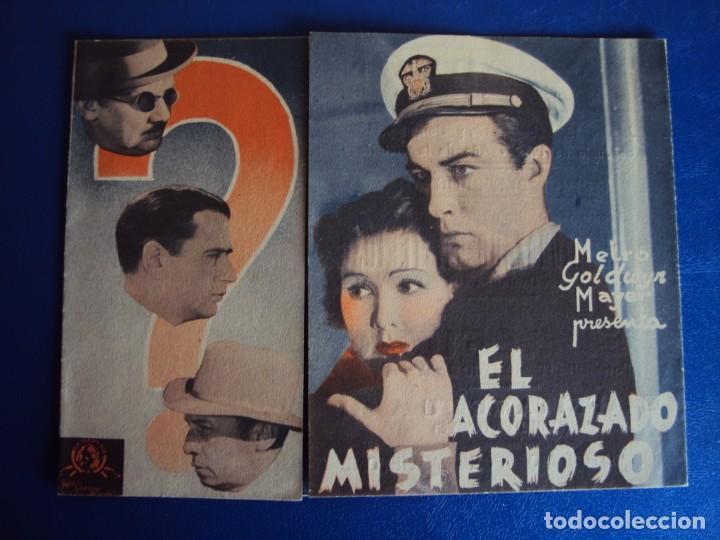 (PG-190424) EL ACORAZADO MISTERIOSO - CINE ODEON - AÑO 1939 (Cine - Folletos de Mano - Suspense)