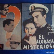 Folhetos de mão de filmes antigos de cinema: (PG-190424) EL ACORAZADO MISTERIOSO - CINE ODEON - AÑO 1939. Lote 153224202