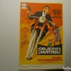 Folhetos de mão de filmes antigos de cinema: PROGRAMA OBJETIVO ¡ MATAR¡ RICHARD WYLER. Lote 153360582