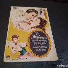 Cine: PROGRAMA DE MANO ORIG - LA BRIBONA - CINE IDEAL CINEMA. Lote 153434066