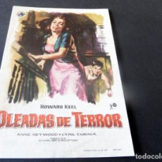 Cine: PROGRAMA DE CINE - CINE ARINCO DE PALAMÓS - OLEADAS DE TERROR. Lote 153437354