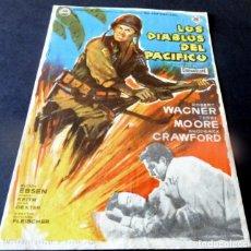 Flyers Publicitaires de films Anciens: PROGRAMA DE CINE - CINE ARINCO DE PALAMÓS - LOS DIABLOS DEL PACIFICO. Lote 153438594