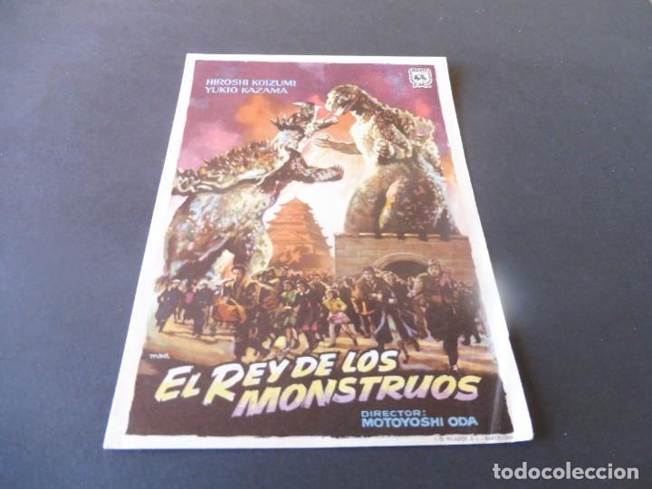 PROGRAMA DE CINE - CINE ARINCO DE PALAMÓS - EL REY DE LOS MONSTRUOS (Cine - Folletos de Mano - Terror)
