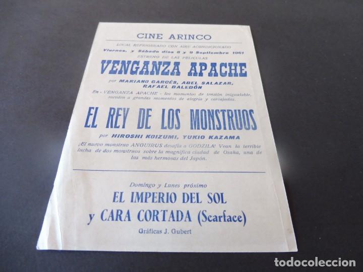 Cine: PROGRAMA DE CINE - CINE ARINCO DE PALAMÓS - EL REY DE LOS MONSTRUOS - Foto 2 - 153442498