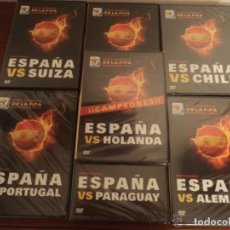 Cine: LOTE COMPLETO 7 DVD MUNDIAL SUDAFRICA 2010 - PARTIDOS DE ESPAÑA - FÚTBOL. Lote 153558902