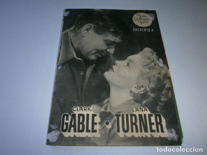PROGRAMA DOBLE - LA RIVAL - CLARK GABLE, LANA TURNER - MGM - CINE PERELLÓ (MELILLA) - 1948. (Cine - Folletos de Mano - Bélicas)