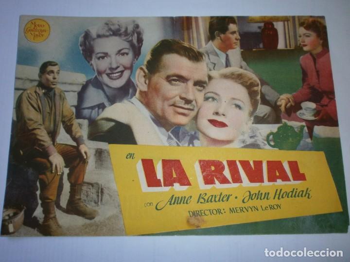 Cine: PROGRAMA DOBLE - LA RIVAL - CLARK GABLE, LANA TURNER - MGM - CINE PERELLÓ (Melilla) - 1948. - Foto 2 - 153641738