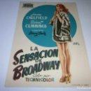 Cine: PROGRAMA DE CINE - LA SENSACIÓN DE BROADWAY - JOAN CAULFIELD, ROBERT CUMMINGS - 1950 - S/P.. Lote 153648370