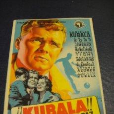 Cine: KUBALA LOS ASES BUSCAN LA PAZ - CINES DE TONA Y TARADEL. Lote 153697190