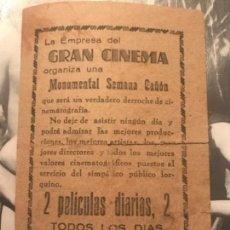 Cine: ANTIGUO PROGRAMA CINE SEMANAL GRAN CINEMA . Lote 153720678