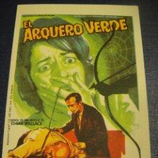 Cine: EL ARQUERO VERDE - SIN PUBLICIDAD. Lote 153770702