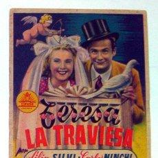 Cine: PROGRAMA CINE SALÓN ESPAÑA ANTIGUO CINE CAPITOL TERESA LA TRAVIESA ALICANTE 1947. Lote 153821458