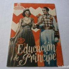 Cine: PROGRAMA DOBLE - EDUCACIÓN DE PRÍNCIPE - ELVIRE POPESCU, LOUIS JOUVET - CIFESA - CINE IDEAL - 1942. Lote 153924458