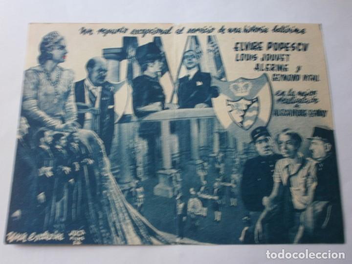 Cine: PROGRAMA DOBLE - EDUCACIÓN DE PRÍNCIPE - ELVIRE POPESCU, LOUIS JOUVET - CIFESA - CINE IDEAL - 1942 - Foto 2 - 153924458