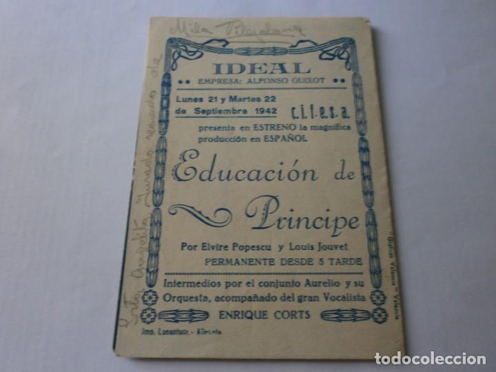 Cine: PROGRAMA DOBLE - EDUCACIÓN DE PRÍNCIPE - ELVIRE POPESCU, LOUIS JOUVET - CIFESA - CINE IDEAL - 1942 - Foto 3 - 153924458