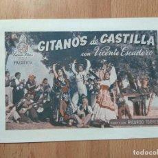 Cine: PROGRAMA DE CINE -- GITANOS DE CASTILLA. Lote 154023714