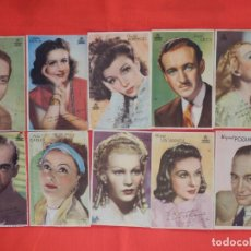Cine: LOTE 20 PROGRAMAS ACTORES Y ACTRICES CON PUBLICIDAD DENTICHLOR. Lote 154177378