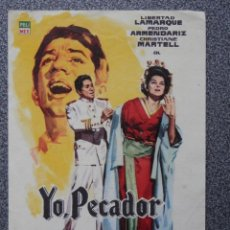 Flyers Publicitaires de films Anciens: PROGRAMA DE CINE: YO PECADOR. Lote 154061896