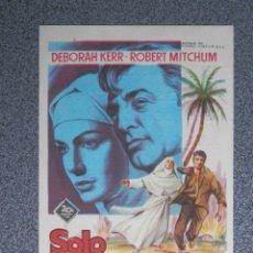 Foglietti di film di film antichi di cinema: PROGRAMA DE CINE: SOLO DIOS LO SABE CINE REX ZARAGOZA. Lote 154063158