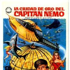 Cine: LA CIUDAD DE ORO DEL CAPITÁN NEMO 1969 (FOLLETO DE MANO ORIGINAL) ROBERT RYAN LUCIANA PALUZZI. Lote 154263330