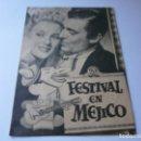 Cine: PROGRAMA DOBLE - FESTIVAL EN MÉJICO - WALTER PIDGEON, JANE POWELL - CINE ALBÉNIZ (MÁLAGA) - 1946.. Lote 154364274