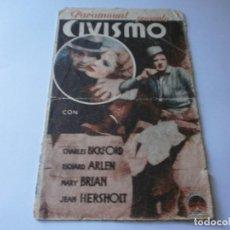 Cine: PROGRAMA DOBLE - CIVISMO - CHARLES BICKFORD, RICHARD ARLEN - TEATRO CIRCO - 1933.. Lote 154373566