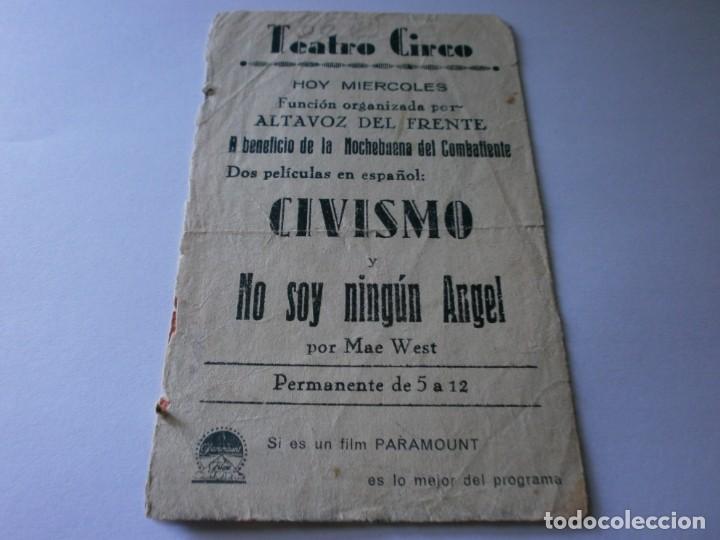 Cine: PROGRAMA DOBLE - CIVISMO - CHARLES BICKFORD, RICHARD ARLEN - TEATRO CIRCO - 1933. - Foto 3 - 154373566
