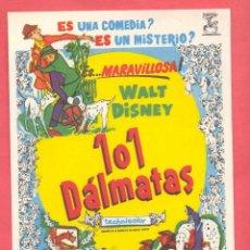Cine: 101 DALMATAS ,SIN PUBLICIDAD, VER FOTOS. Lote 154557926